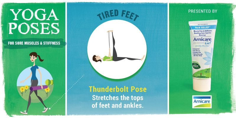 Yoga for Tired Feet - Thunderbolt Pose