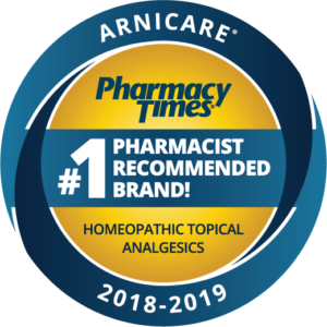 Arnicare Pharmacy Times #1 Pharmacist Recommended Brand! Homeopathic Topical Analgesics 2018-2019