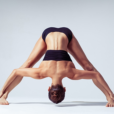 Prasarita Padottanasana | prasarita = spread out; pada = feet; uttana = intense stretch; asana = pose