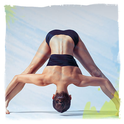 wide legged forward bend pose