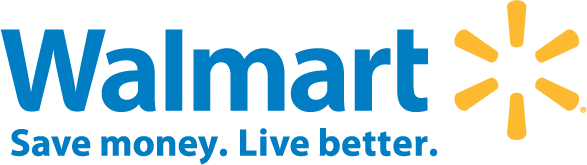 Walmart (logo) Save money. Live Better